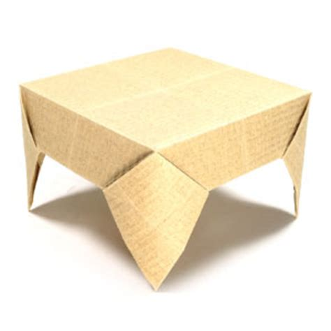 How To Make A Paper Table - how to make a square origami table page 1