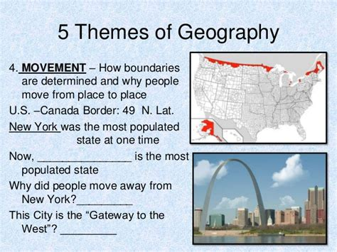 5 themes of geography canada 5 themes of geography 3