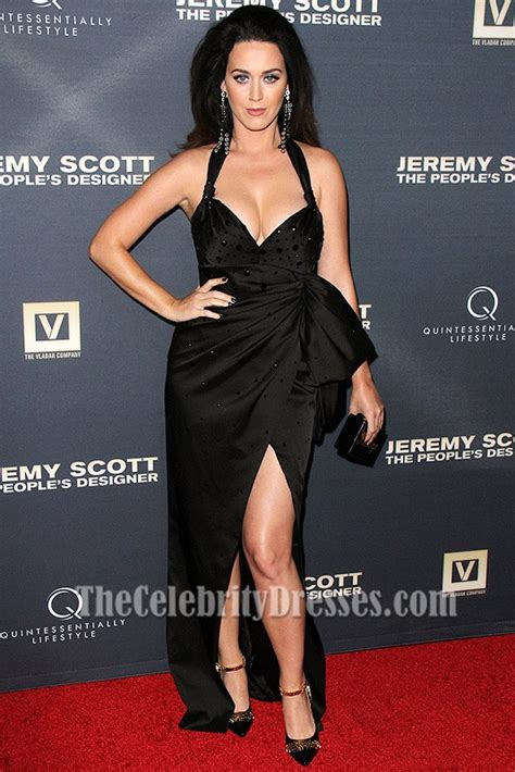 Katy Perry Sexy Black Evening Formal Dresses premiere of Jeremy Scott film   TheCelebrityDresses