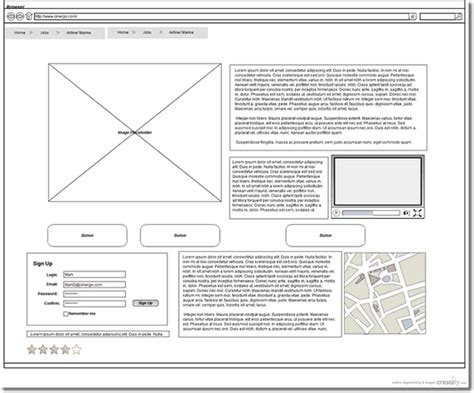 wireframe template new project management web design templates