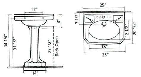 Small Pedestal Sink Dimensions Pedestal Sinks