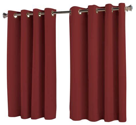 drapes 54 length elegance insulated short length grommet panel wine 54 x