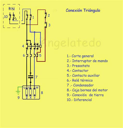 que es un capacitor trifasico esquemas conexionado de motor trif 225 sico con presostato y condensador