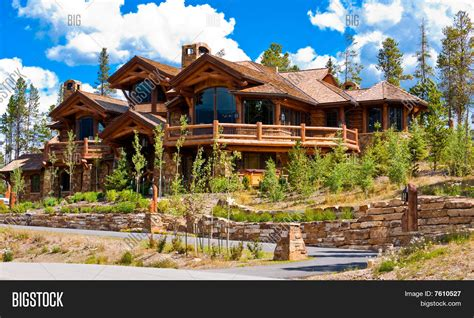 alpine home shock hill breckenridge image photo bigstock