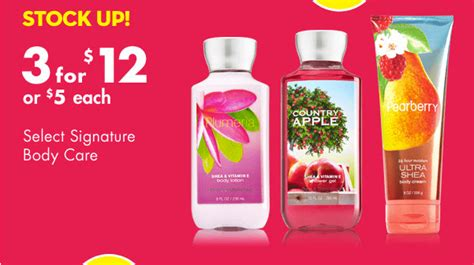 Bath And Body Works Gift Card Balance Canada - bath body works canada semi annual sale get 75 off select items coupon for 10