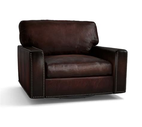 turner leather armchair pottery barn warehouse clearance sale 60 off leather furniture spring 2016