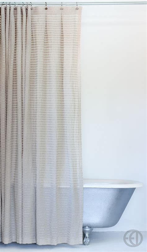 natural shower curtain natural fabric shower curtain