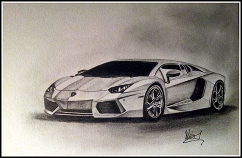 Lamborghini Aventador Drawing Lamborghini Aventador Pencil Drawing My Artwork