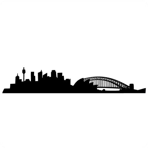 silhouette of sydney skyline for fingerprint project