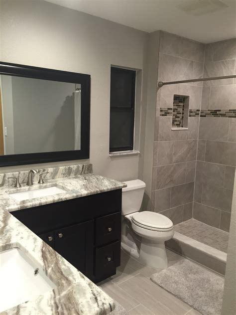 brown bathrooms bathroom remodel in quot greige quot tones brown fantasy granite