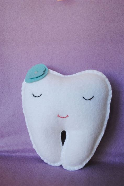 Pillow Shaped Like A by Tooth Pillow Shaped Like A Tooth White Teal Blue