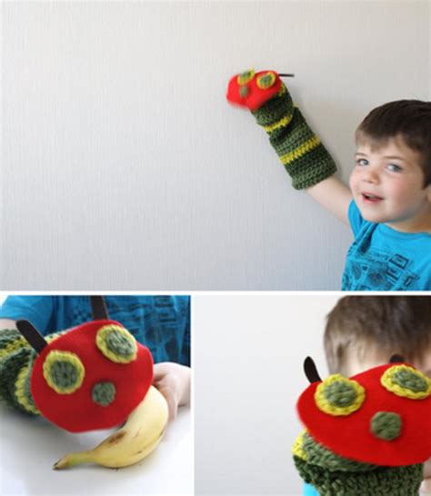 caterpillar butterfly sock puppet once upon a time there was a hungry caterpillar part