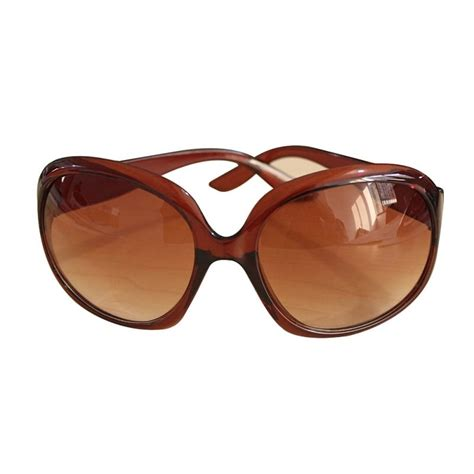 womens vogue oversized plastic frame sunglasses
