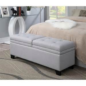 upholstered bedroom storage bench trespass marmo target