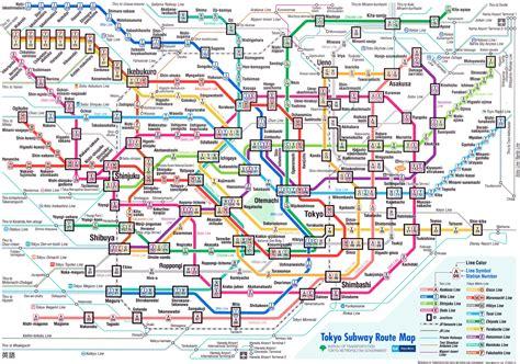 map subway tokyo subway map