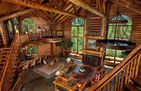 beautiful log home interiors log cabin interior mountain life dream pinterest