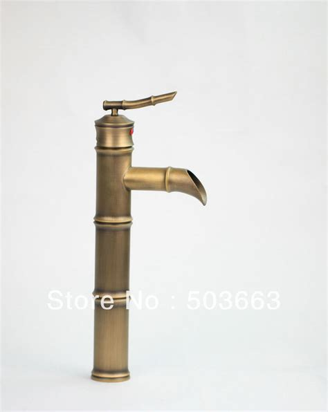 new unique antique single hole kitchen basin faucet brass