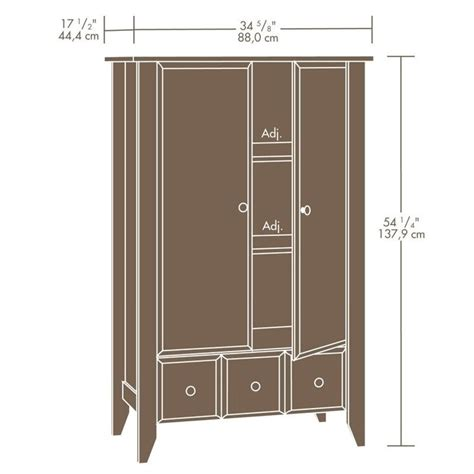 shoal creek armoire sauder shoal creek armoire in oiled oak 410420
