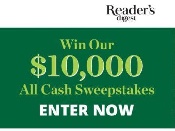 Cash Sweepstakes Ending Today - reader s digest all cash sweepstakes
