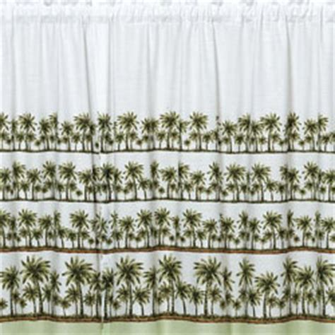 curtain kitchen palm tree curtain design