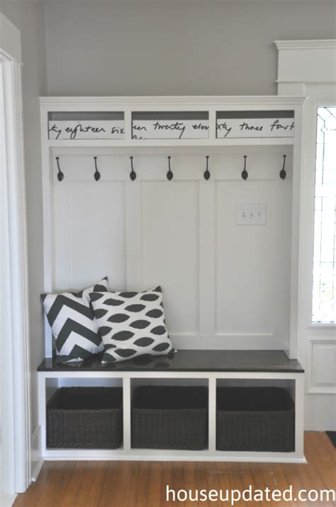 entry storage bench how to build an entry bench with cubbies and hooks part
