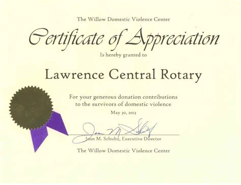certificate of appreciation for donation template certificate of appreciation for donation template