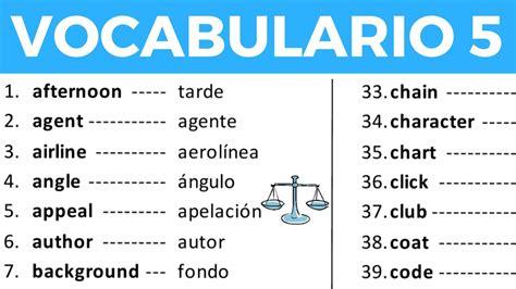 imagenes de palabras en ingles y español vocabulario en ingl 233 s con pronunciaci 243 n lecci 243 n 5 de 8