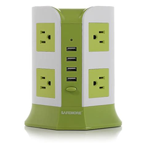 Exclusive Powerstrip 3 Usb Port 3 Electric Putih Paling Mur safemore smart 8 outlet with 4 usb output power green and white audiodevicer