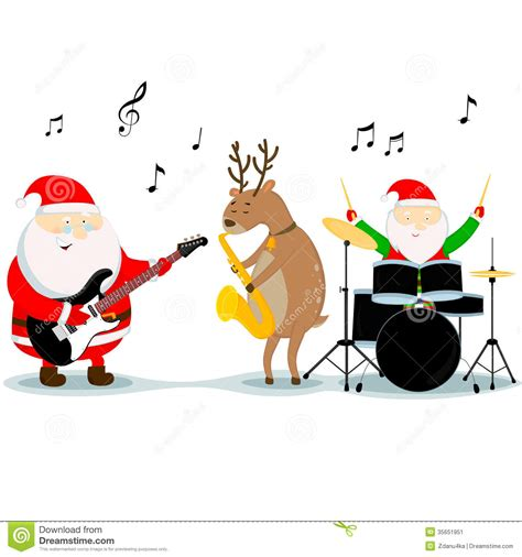 musical santa play clipart clipart suggest