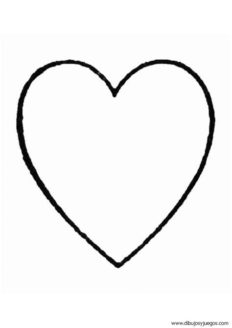 imagenes de corazones medianos dibujos de corazones 049 dibujos y juegos para pintar y