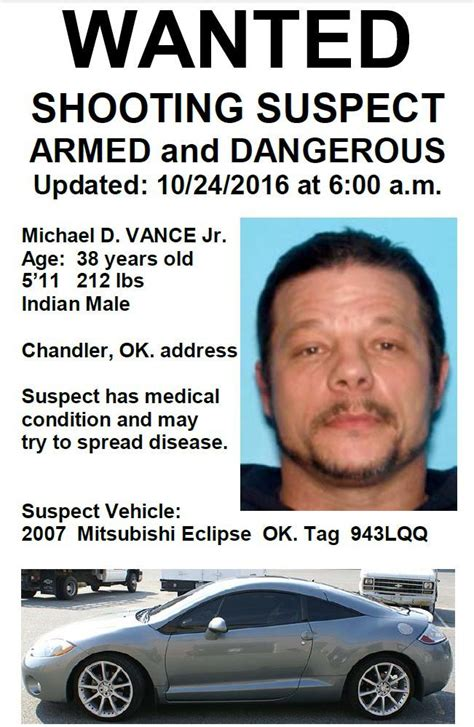 Lincoln County Oklahoma Warrant Search Wanted In Deadly Oklahoma Rage That Targeted