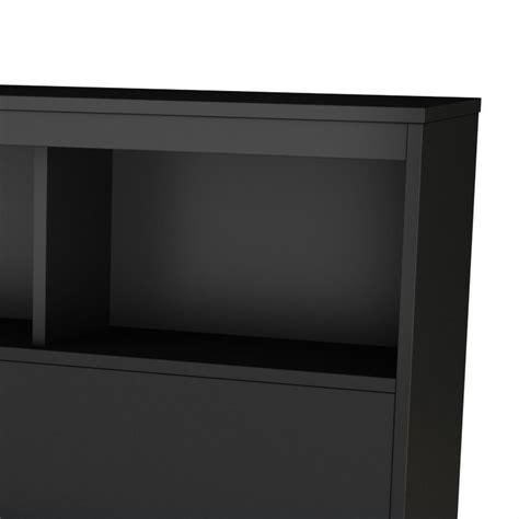black bookcase headboard south shore affinato full bookcase headboard in black