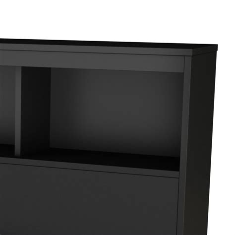black bookcase headboard full south shore affinato full bookcase headboard in black