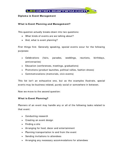 events company business plan template best photos of special event sle special