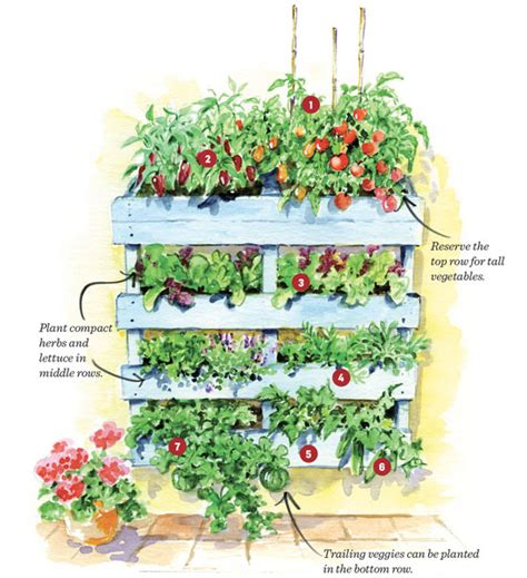 Vertical Fruit Garden Vertical Pallet Garden Plan Gardening Earth Living