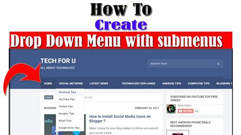 design drop down menu html how to create drop down menu with submenus in blogger in