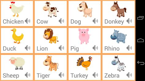 animal sounds toddlers animals sounds android apps on play