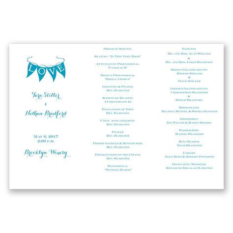 Tri Fold Program Paper - white trifold program invitations by