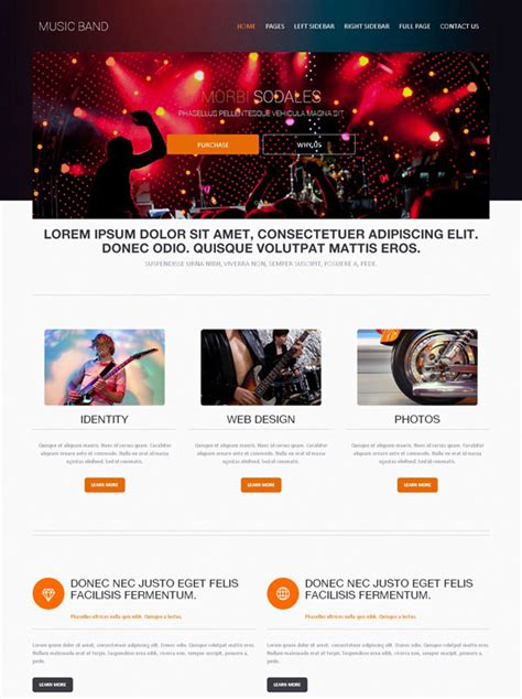 Rock Music Band Web Template Music Band Website Templates Dreamtemplate Band Website Templates