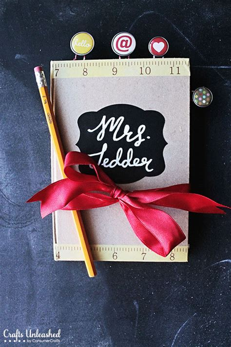 diy crafts for teachers diy journal with paperclip bookmarks a gift idea