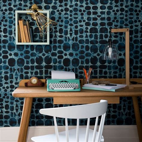 home office wallpaper contemporary home office with statement wallpaper home