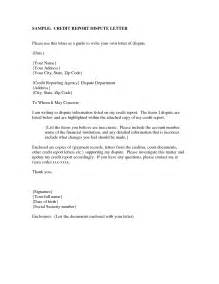 Letter Of Dispute Credit Dispute Letter Template Best Business Template