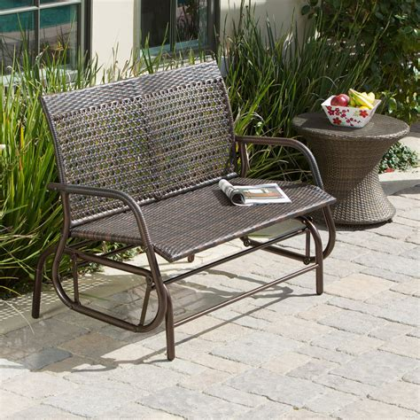 porch bench glider maui outdoor swinging 4 ft outdoor glider bench outdoor gliders at hayneedle