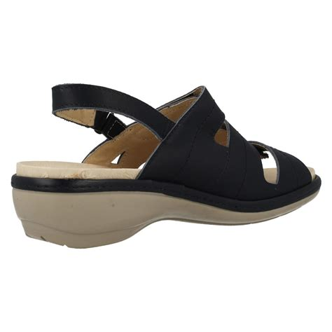 wide sandals easy b wide leather velcro sandals ebay