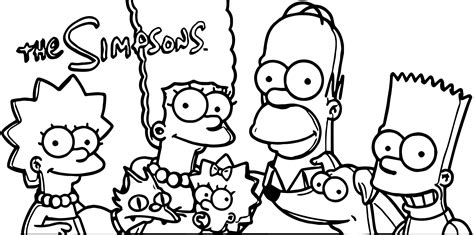 the simpsons coloring pages key the simpsons coloring pages wecoloringpage