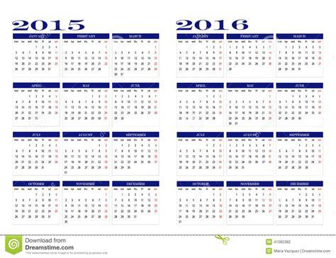 Almanach Kalender 2017 Calendrier 2015 Et 2016 Illustration De Vecteur Image