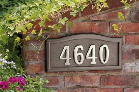 Address Wall Plaques Free Shipping - softcurve 174 series address plaque free shipping