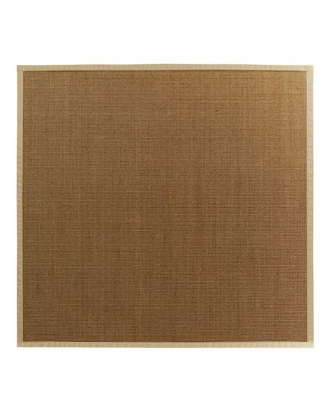 bound sisal rug lanart rug sisal bound khaki 56 8 ft x 8 ft area rug the home depot canada