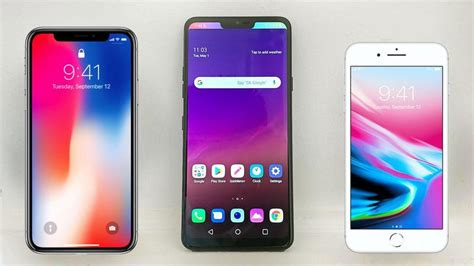 Lg Shine Might Be Better Than An Iphone by Lg G7 Vs Iphone X Iphone 8 Comparison Tech Advisor