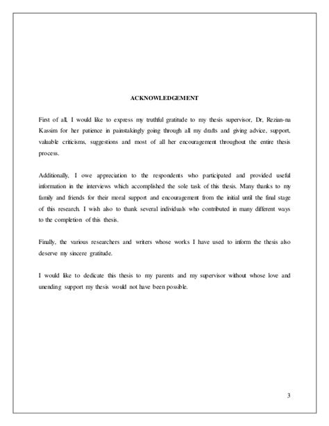 acknowledgement thesis malaysia the impact of culture differences on decision making in